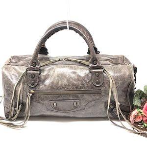 Auth Balenciaga Convertable Shoulder Bag